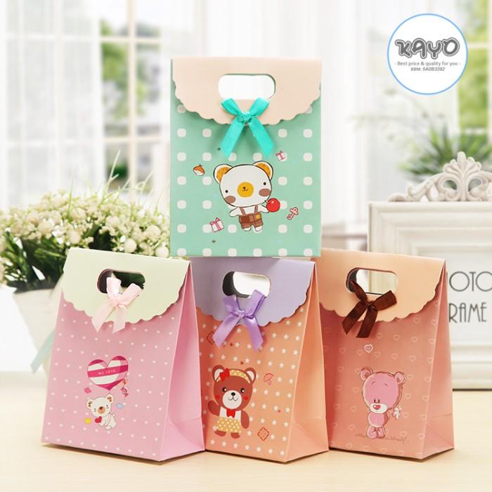 Jual Animal Paper Bag Kado Bungkus Kado Kotak Kado Grosir Paper