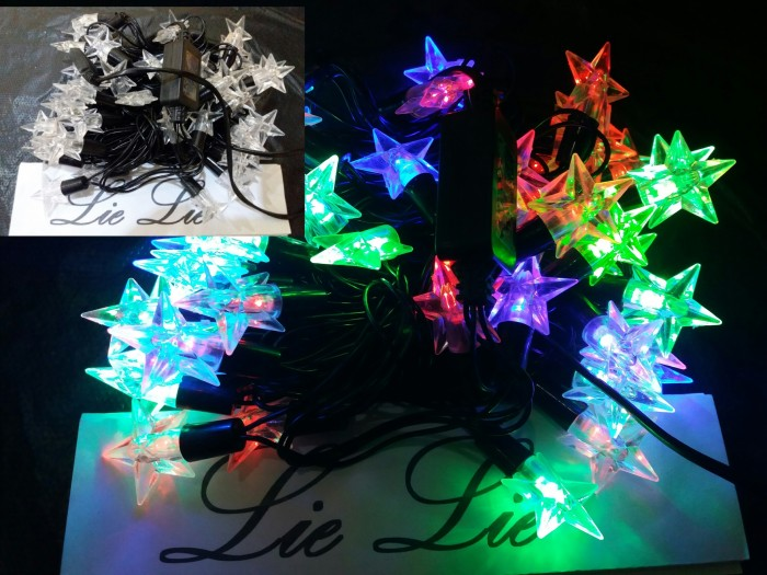 harga Lampu Natal Twinkle Bintang 5 Pinus Bola Kelereng Kristal 50 Led Tokopedia.com