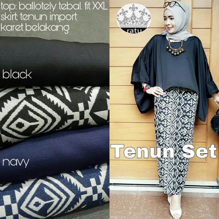 Jual Baju Atasan Wanita Blouse Set Bawahan Rok Model Terbaru TENUN ... c487b21b72