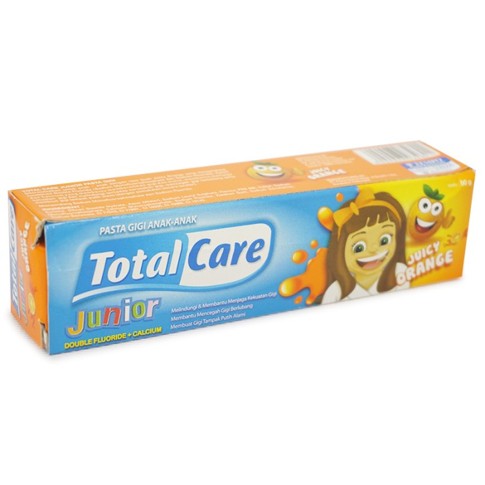 Pasta Gigi/Toothpaste Junior Total Care Juicy Orange 50gr