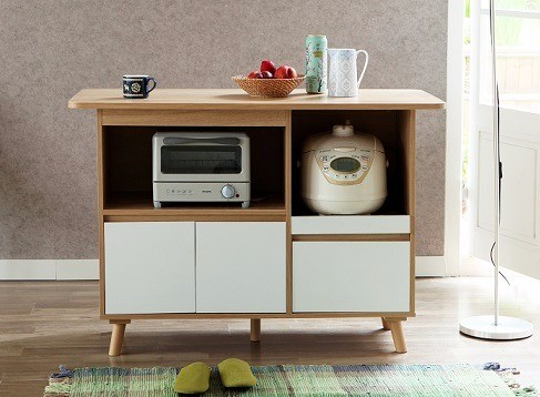 Jual Rak Serbaguna Heymes Ireland Wagon Warna White Oak Jakarta Pusat Niaga Furniture Online Tokopedia