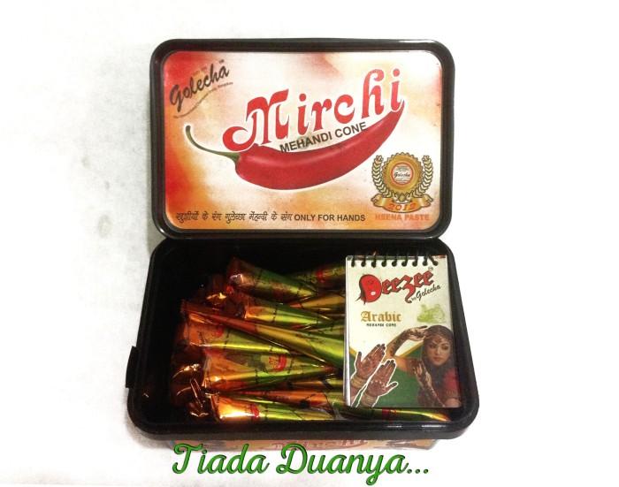 harga Henna / Inai / Pacar Golecha Mirchi Perbox (30 Pcs) Tokopedia.com