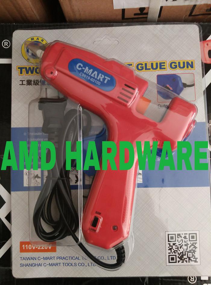 Hot Melt Glue Gun/ Tembakan Lem Listrik C-mart 60-100 W