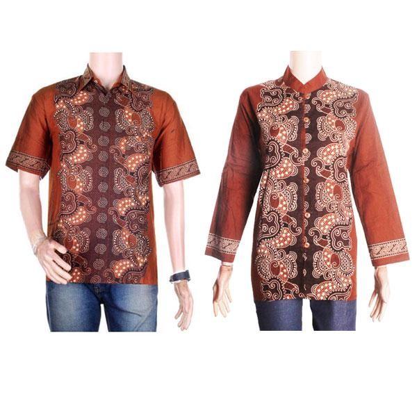 harga Sarimbit/couple batik kemeja-blus sabrina (sepasang) - coklat Tokopedia.com
