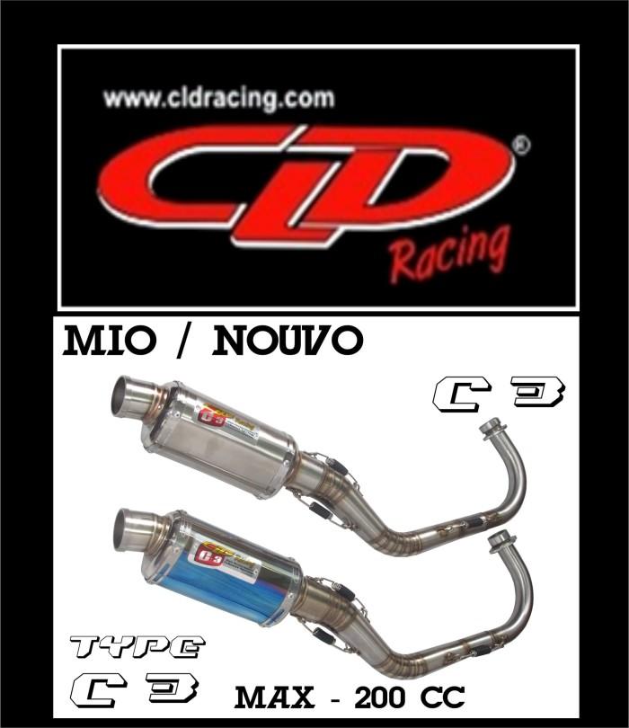 harga Knalpot cld c3 mio/nouvo/fino oval doff Tokopedia.com