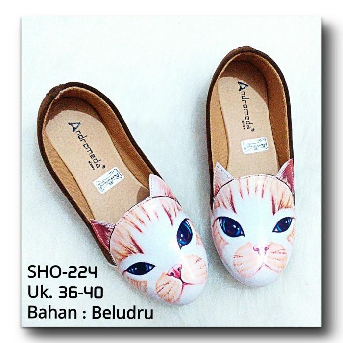 harga Sepatu flatshoes local bahan beludru sho-224 Tokopedia.com