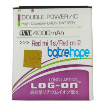 Baterai Double Power Log-on Logon Xiaomi Redmi 1s ( BM44 ) 4000Mah
