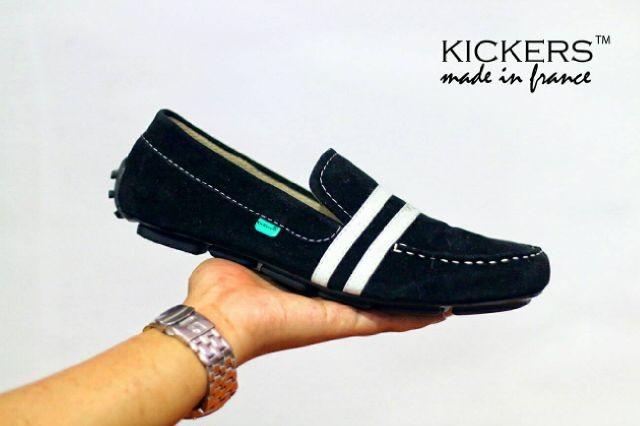 harga Sepatu pria casual santai sneaker kickers slip on vita hitam Tokopedia.com