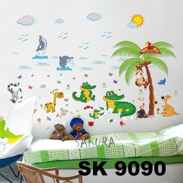 jual wallsticker / wallsticker hewan / sk9090 - kota malang - sakura