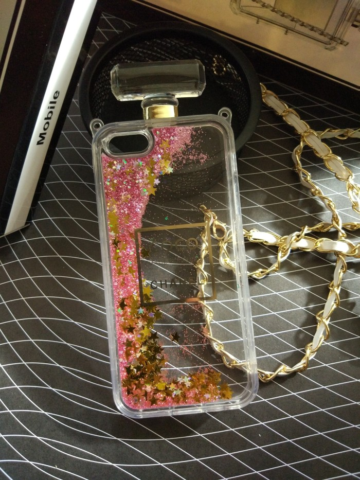 harga Iphone 5 5s luxury coco chanel water glitter bottle parfume case cover Tokopedia.com