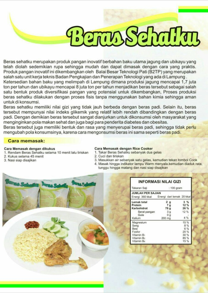 Jual Beras Sehatku Nasi Jagung Makanan Sehat Makanan Diet