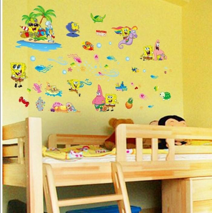 jual wallsticker spongebob vacation/ stiker dinding/ laut/ animasi