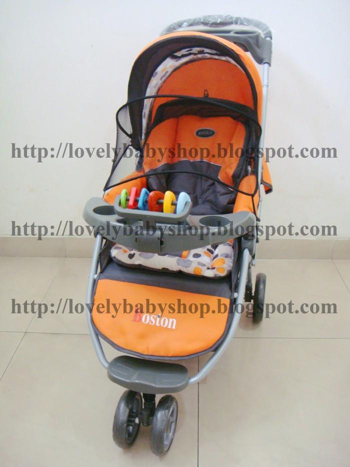 harga St19 # stroller kereta dorong pliko # lipat # roda 3 tiga # meja # rem Tokopedia.com