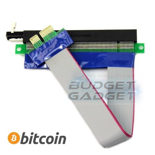 harga Pci-e express 16x to 1x riser card adapter 15cm (bitcoin miner) Tokopedia.com