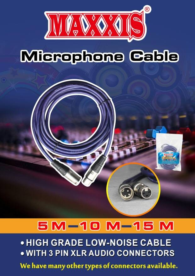 harga Kabel microphone maxxis 10 meter (canon to canon) Tokopedia.com