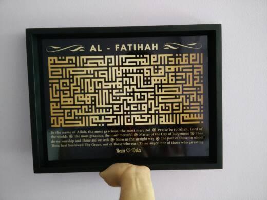 harga Hiasan dinding kaligrafi kufi surat al-fatihah black gold uk 30x40 Tokopedia.com