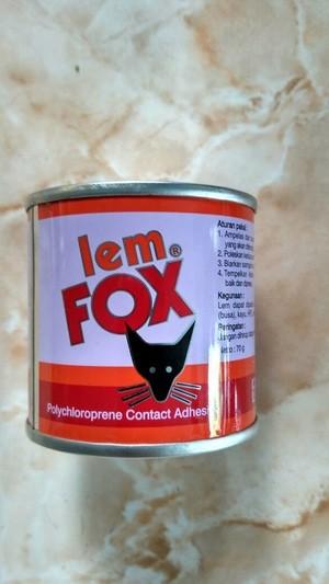 Jual LEM FOX KUNING 70 GR LEM KARPET SENDAL KULIT KAYU
