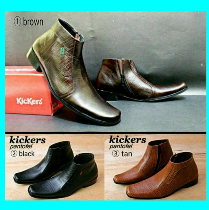 harga Sepatu kickers pantofel kulit boot sleting formal pria full leather Tokopedia.com