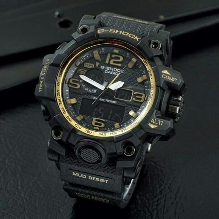 Jam tangan pria casio g-shock batman gba400-b black gold super
