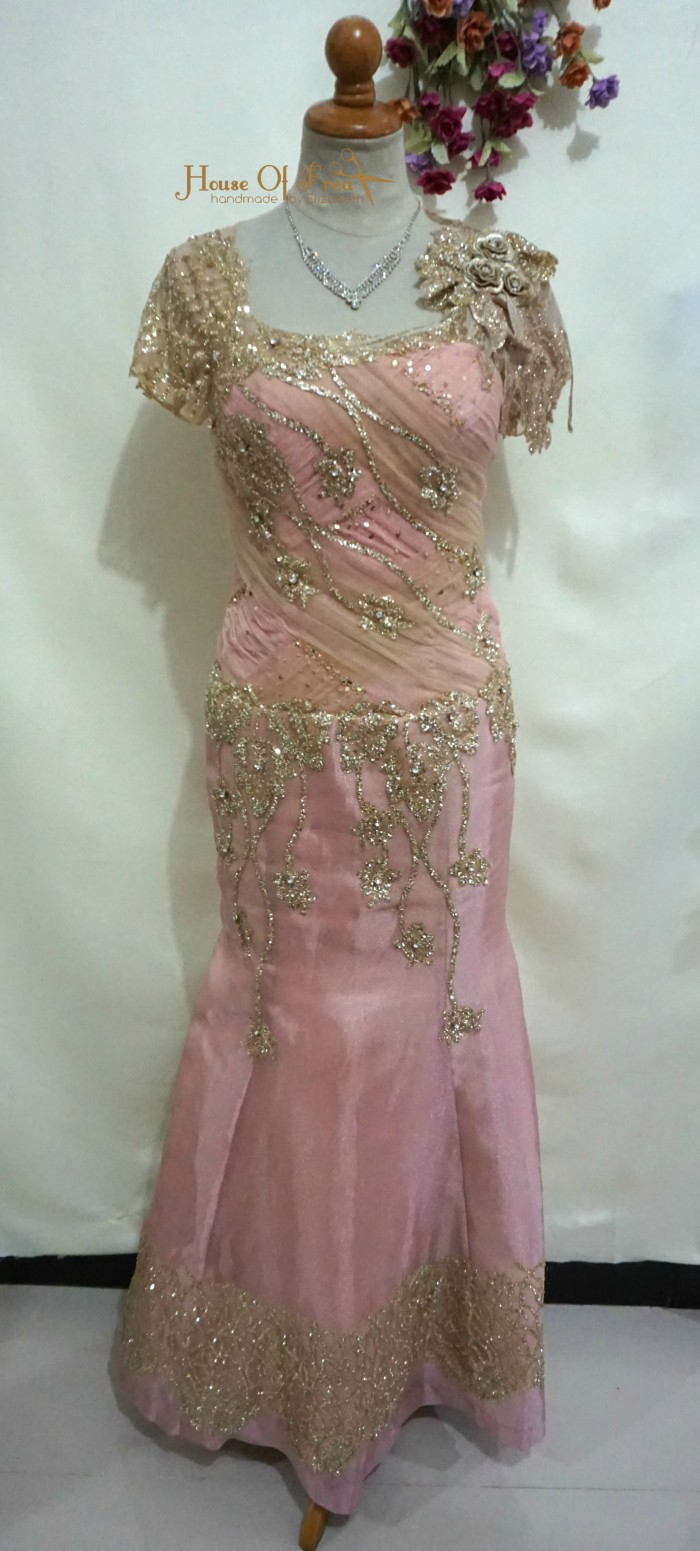 Jual Longdress Salem Gold Mermaid Baju Pesta Dress Pesta Baju Butik Kota Surabaya Frea Kids