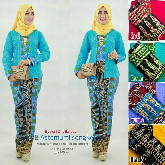 Jual Baju Batik Wanita Modern Kebaya Model Aprilia Songket Pesta Hijab Jakarta Pusat Farizattarsyah Tokopedia