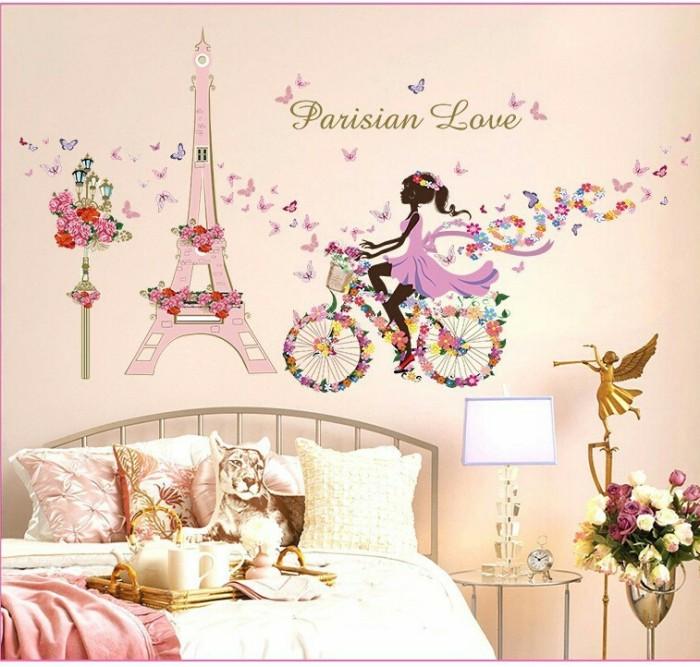 jual wallsticker parisian love/ paris/ eiffel/ pink/ stiker dinding