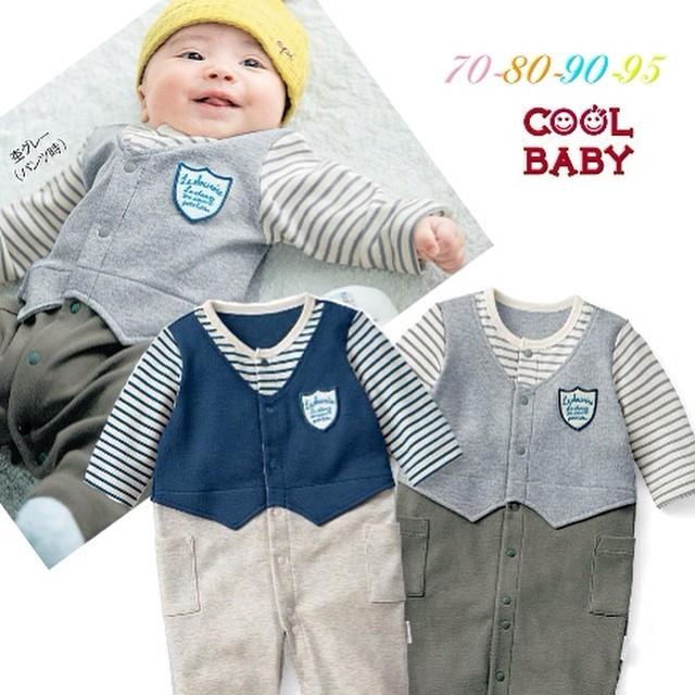 harga Tuxedo romper bayi coolbaby cool baby strip 4month-18month Tokopedia.com