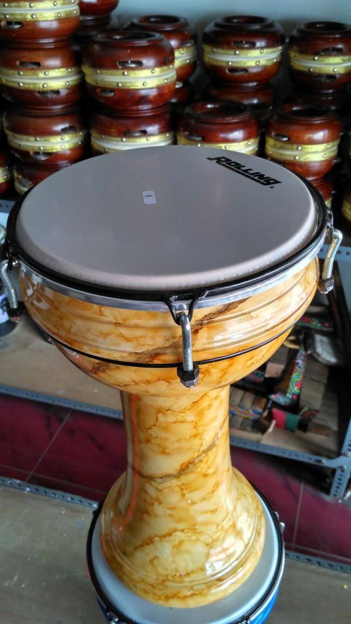 Alat Musik Calti / Darbuka / Dumbuk pinggang Warna Kuning Marmer