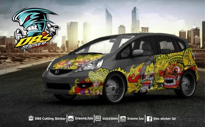 Jual Cutting Sticker Mobil Honda Jazz Barong Bali Dance Vector Dbs