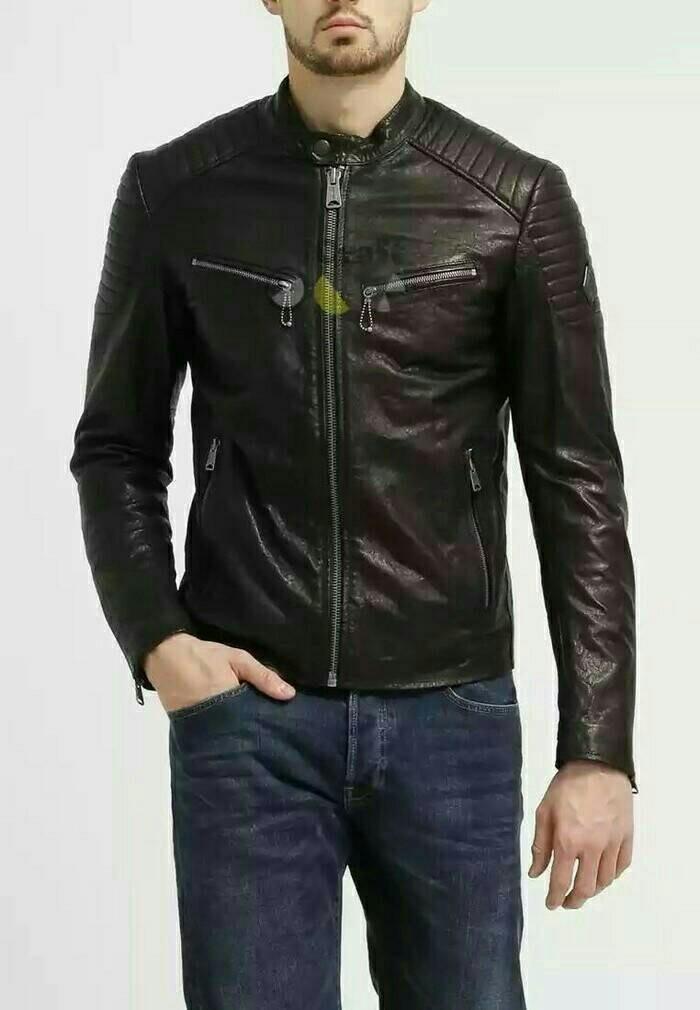 Jual jaket semi kulit pria (Jaket kulit 943e57e0a9