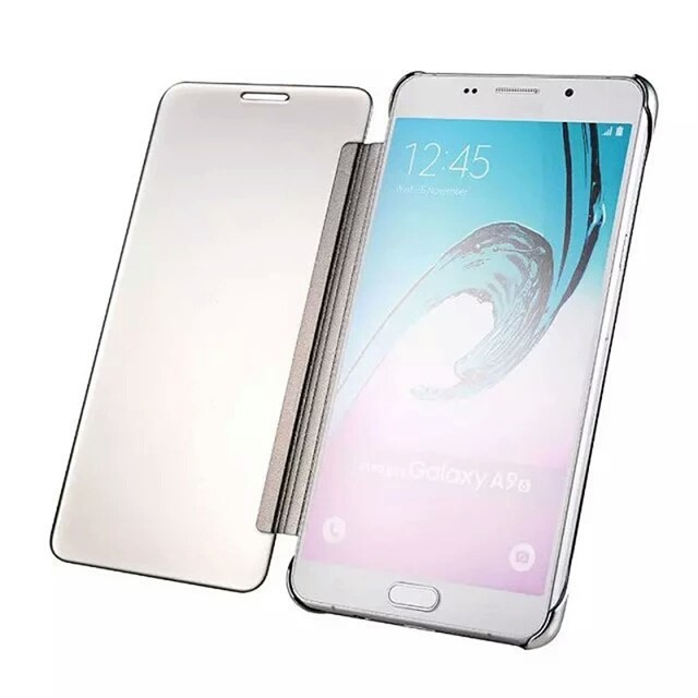 Flipcase Flip Mirror Cover S View Transparan Auto Lock Casing Source Case Cover Mirror Transparan Samsung