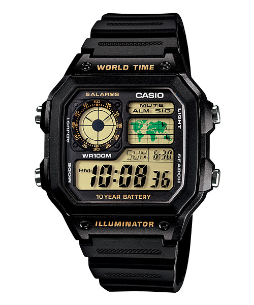 harga Jam tangan pria casio digital ae-1200wh-1b world time 10 years battery Tokopedia.com