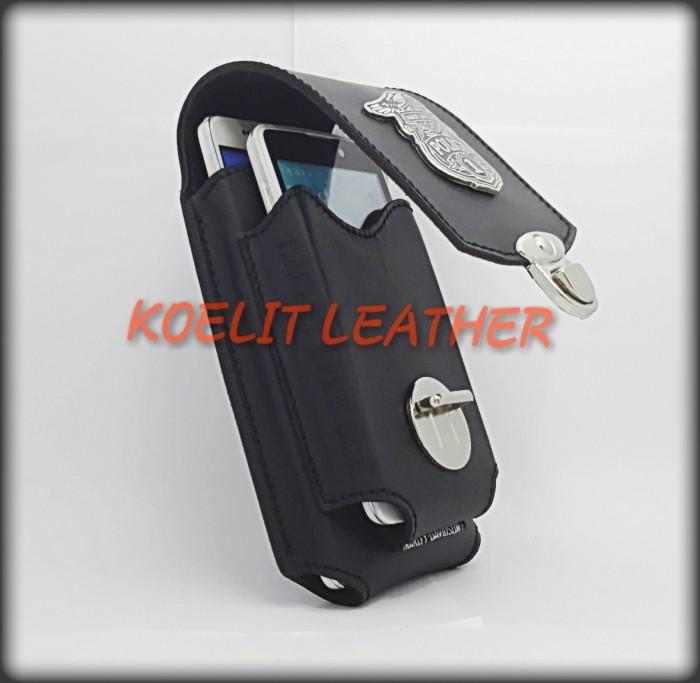 harga Leather case tempat tas dompet sarung hp kulit harley model doble Tokopedia.com
