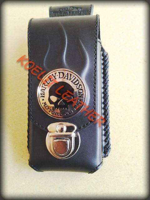 harga Dompet tas tempat sarung hp kulit leather case harley nokia e90 sulam Tokopedia.com