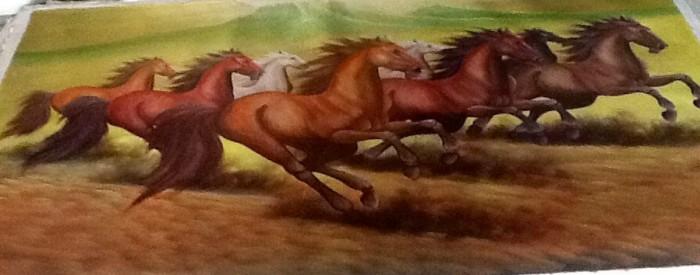 harga Lukisan 8 kuda lari 135x85 feng shui rejeki,hoki,pembawa keberhasilan3 Tokopedia.com