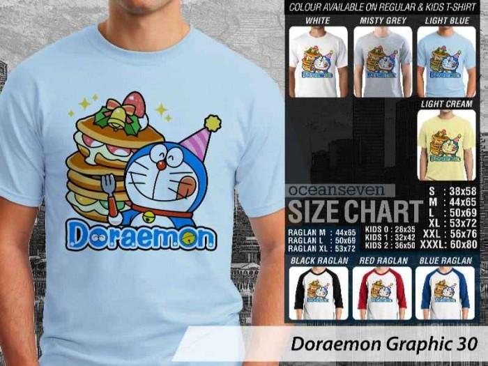 [READY STOCK] Kaos T-Shirt Raglan   Doraemon Graphic 30