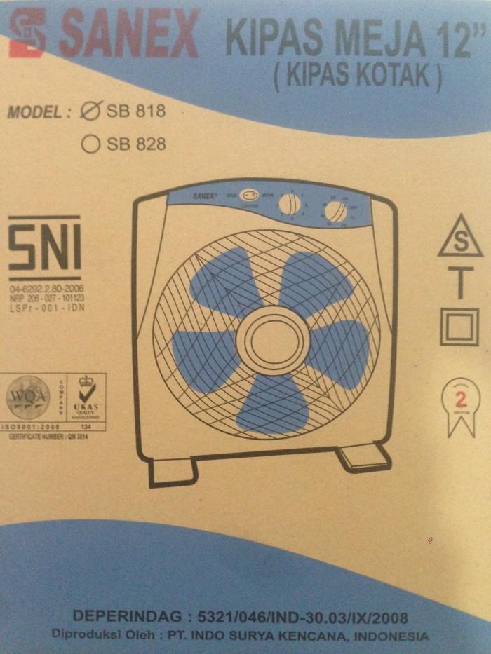 Kipas angin meja / box fan 12 sanex / kipas angin duduk