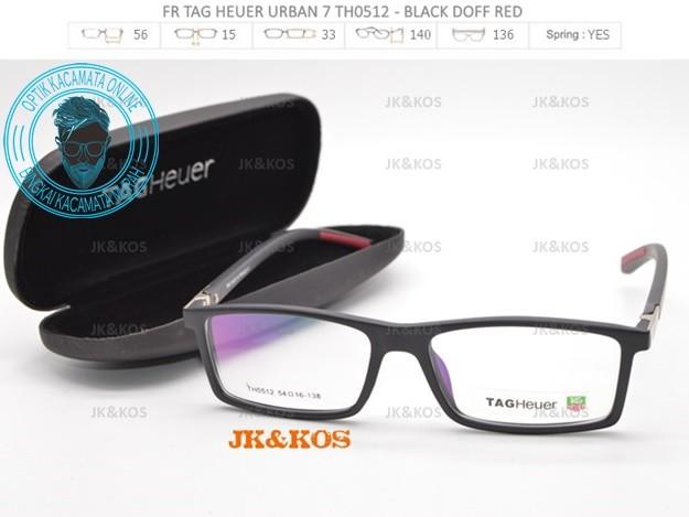 Jual Frame Kacamata Baca   Minus Tag Heuer Urban 7 TH 0512 Black ... 38e9a2e2a5