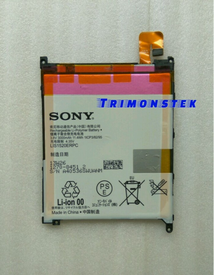 Baterai Battery Sony Xperia Z Ultra XL39 Original 100%