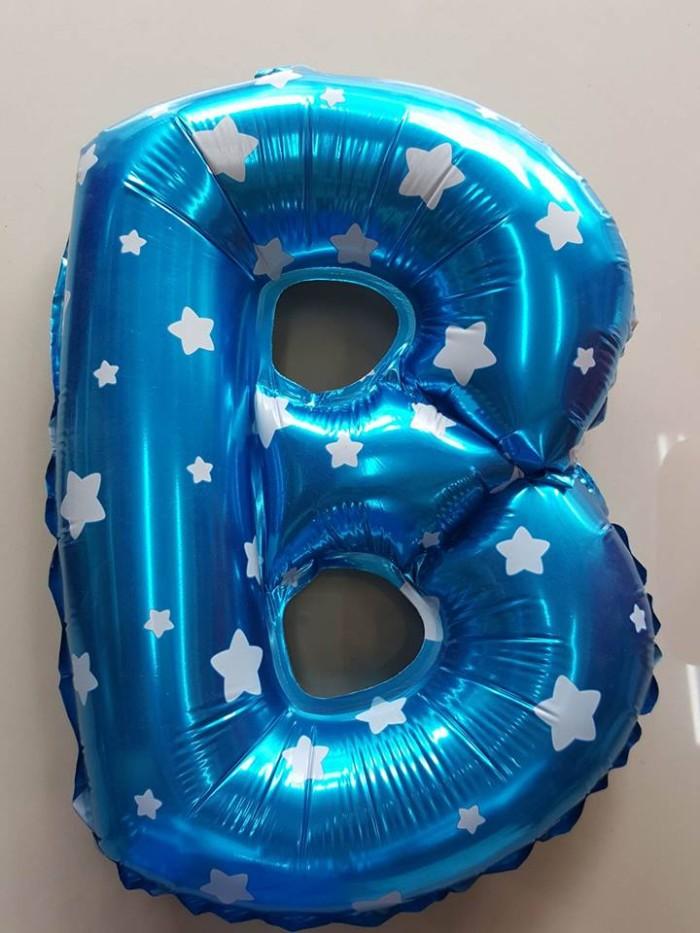 ... Balon FOIL BIRU IMPORT QUALITY WARNA BIRU CERAH MOTIF BINTANG