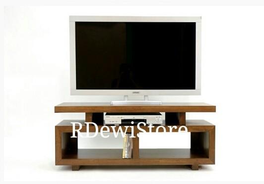 harga Bufet lemari rak meja tv kayu jati minimalis modern Tokopedia.com