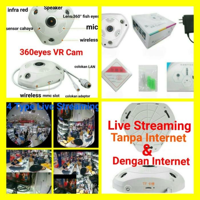 harga Ip cam ip camera vr cam 960p 1.3mp panoramic 3d 360 fish eyes Tokopedia.com