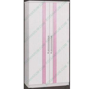 harga Lemari baju pakaian 2 pintu polos putih pink graver infinity lp 2595 p Tokopedia.com