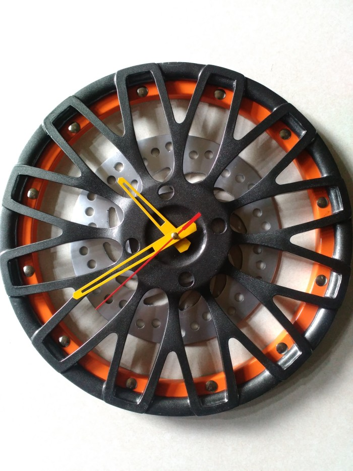 Jam dinding custom 3d