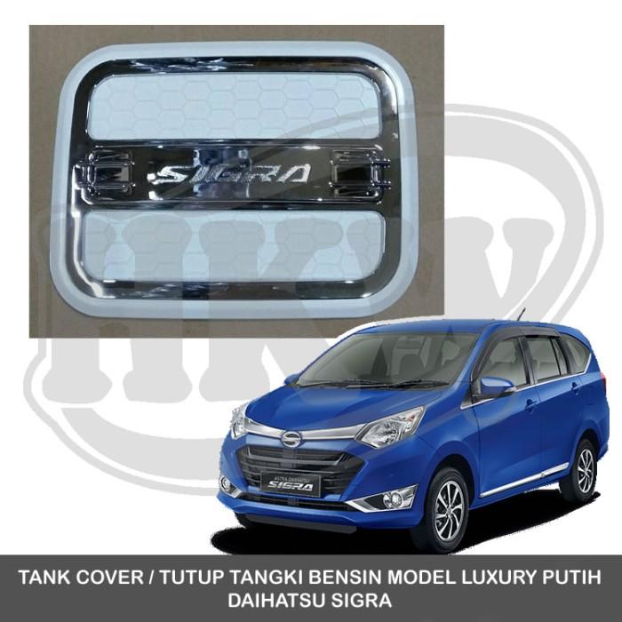 750 Jual Tank Cover Tutup Tangki Bensin Model Luxury Putih Daihatsu Sigra Hkw Variasi Mobil Tokopedia
