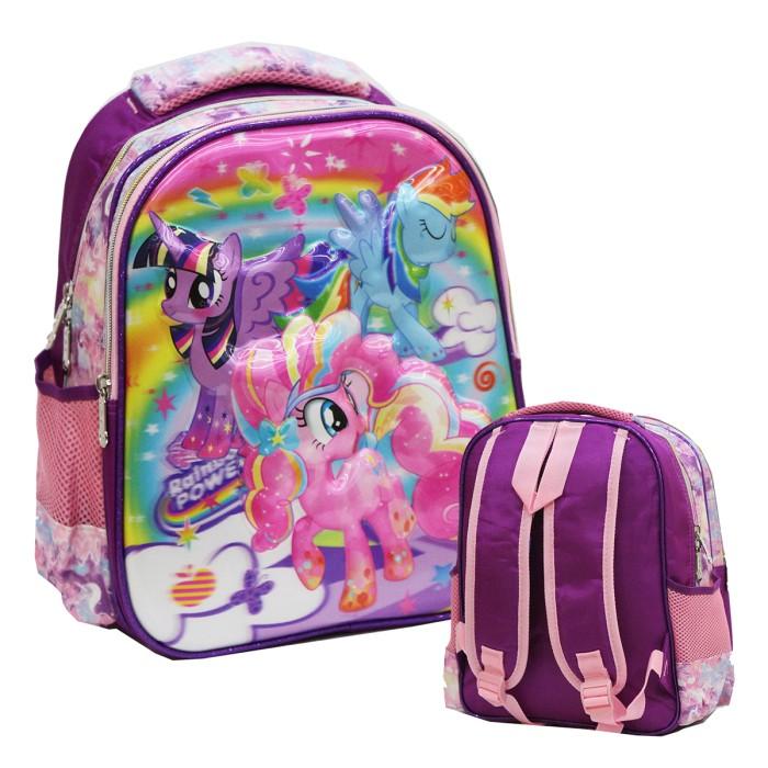 Tas Ransel TK Import My Little Pony 5D Timbul Hologram Pink Purple