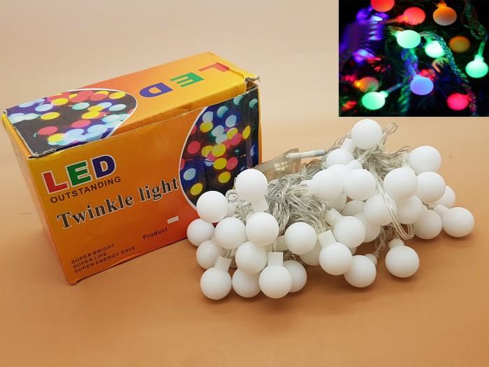 harga Lampu natal led bola kelereng anggur kabel putih / lampu hias Tokopedia.com