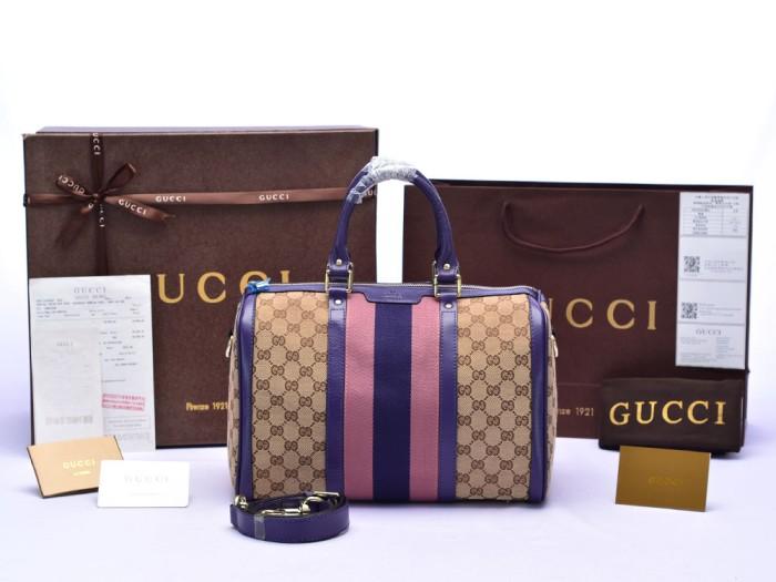 Jual Tas Gucci Canvas Vintage Web Boston List Ungu PS247205 ... 85301e311e
