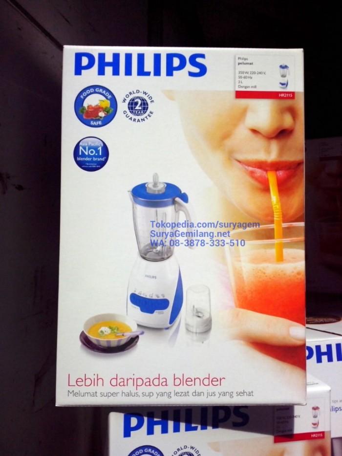 harga Blender philips hr2115 plastik biru blue ori, asli, baru,garansi resmi Tokopedia.com