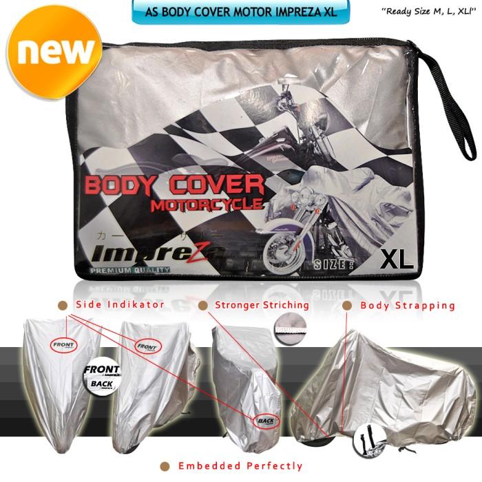 harga Body cover / sarung / penutup motor impreza size xl (vixion cbr dll) Tokopedia.com